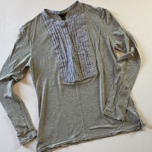 Ann Taylor Petites Henley with pleated placket